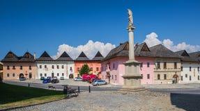Spisska Sobota, Eslovaquia 11 de agosto de 2015 Viejo cuadrado foto de archivo