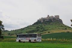 Spisske Podhradie, Σλοβακία, 6η Τον Ιούλιο του 2018 Eurobus στοκ εικόνα