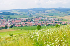 Spisske Podhradie town from Spis Castle, Slovakia. Spisske Podhradie town near Spis Castle, Slovakia royalty free stock photo