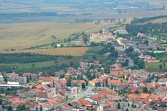 Spisske Podhradie Town. View from Spissky Hrad Castle on a Spisske Podhradie Town in Slovakia royalty free stock photo