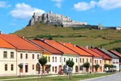 Spisske Podhradie und Spis-Schloss, Slowakei Lizenzfreie Stockfotos