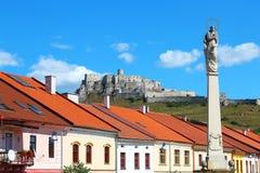 Spisske Podhradie und Spis-Schloss, Slowakei Lizenzfreie Stockfotografie