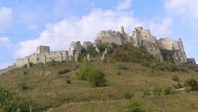 Spissky城堡斯洛伐克全景 库存图片