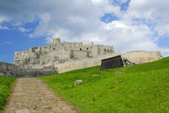 Spissky castle stock photography