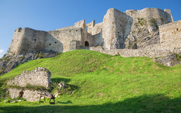 Spissky castle - Look from down castle Royalty Free Stock Image