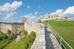 Spissky castle - Look from down castle courtyard Stock Photography