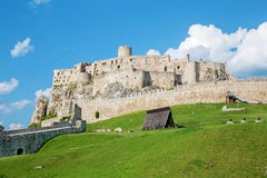 Spissky castle - Look from down courtyard Stock Photography