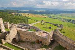 Spissky castle - Look from tower to south Stock Photography