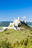 Spissky Castle. Ruins of Spissky Castle in Slovakia Stock Photo