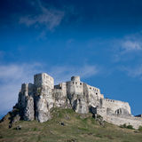 Spissky Castle, Slovakia. With blie sky royalty free stock photo