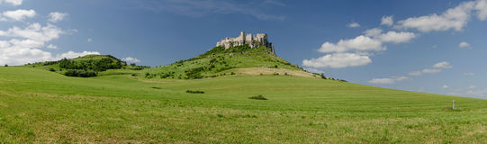 Panoramic picture of Spis castle, Slovakia. Panoramic view of Spissky castle in Slovakia, Europe stock photos