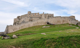 Spissky castle in the summer, Slovakia, Europe Royalty Free Stock Images
