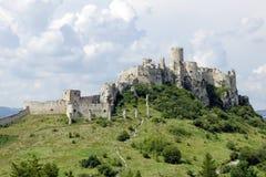 Spissky Hrad城堡 免版税图库摄影