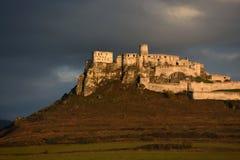 Spissky hrad,联合国科教文组织,斯洛伐克 免版税库存照片