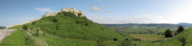 Spissky hrad castle. In Slovakia belongs to UNESCO world heritage royalty free stock photography