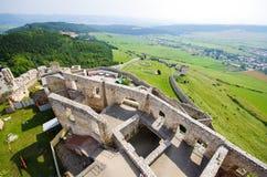 Spissky Hrad castle, Slovakia. Yard of Spissky Hrad castle, Slovakia stock images