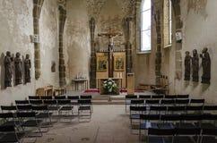 Spissky Hrad. Church in castle Spissky Hrad stock photos