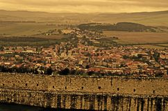 Spissky Hrad. Look from castle Spissky Hrad Royalty Free Stock Photo