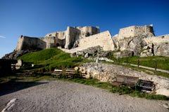 Spissky hrad - Schloss stockbild