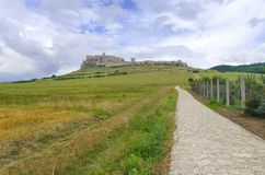 Spissky Hrad in Slovakia. Old castle ruins. Ruins Castle Spissky Hrad in Slovakia royalty free stock image