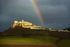 Spissky hrad, Unesco, Slowakije royalty-vrije stock foto
