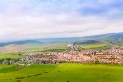 Spissky hrad village panorama Royalty Free Stock Photo