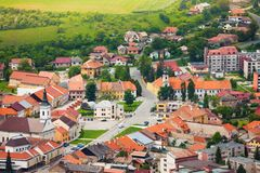 Spissky hrad village panorama center. Spissky hrad village panorama in Slovakia High Tatars region royalty free stock photography