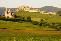 Spissky Schloss, Slowakei Stockfotografie