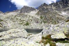 5 Spisskych-Falten - tarns in hohem Tatras, Slowakei Lizenzfreies Stockfoto