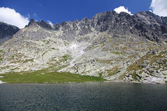 5 Spisskych plies  - tarns in High Tatras, Slovaki Stock Photography