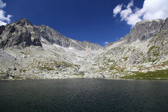 5 Spisskych plies  - tarns in High Tatras, Slovaki Stock Image