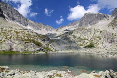 5 Spisskych plies  - tarns in High Tatras, Slovakia Royalty Free Stock Photos