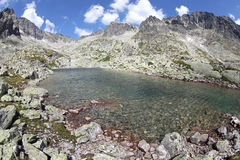 5 Spisskych plies - tarns i höga Tatras, Slovakien Fotografering för Bildbyråer
