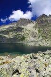 5 Spisskych plies - tarns i höga Tatras, Slovakien Arkivbilder