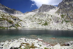 5 Spisskych plies - tarns i höga Tatras, Slovakien Royaltyfri Foto