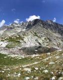 5 Spisskych plies - tarns i höga Tatras, Slovakien Arkivfoto