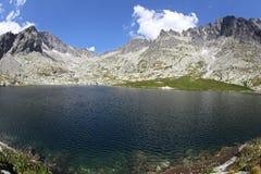 5 Spisskych一层- tarns在高Tatras,斯洛伐克 库存图片