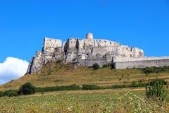 Spisu kasztelu Spissky hrad, Sistani Zdjęcie Stock