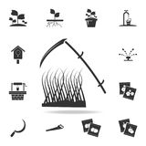spit and grass icon. Detailed set of garden tools and agriculture icons. Premium quality graphic design. One of the collection ico royalty free illustration