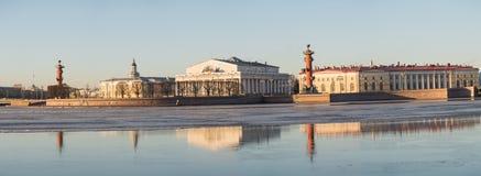 Spit Of Vasilievsky Island Royalty Free Stock Image