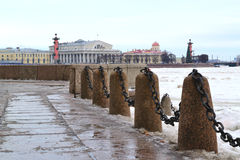 Spit of Vasilievsky Island Stock Images
