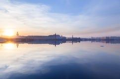 Spit of Vasilievsky Island Royalty Free Stock Photo