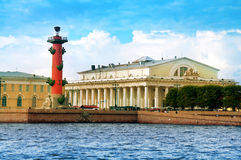 Spit of Vasilievsky Island Stock Photos