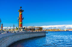 The Spit of Vasilievsky Island Royalty Free Stock Photos
