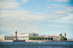 The spit of Vasilievsky Island in Saint Petersburg Stock Photo