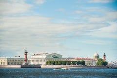 The spit of Vasilievsky Island in Saint Petersburg Stock Photo