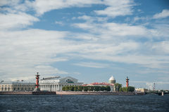The spit of Vasilievsky Island in Saint Petersburg Royalty Free Stock Photo