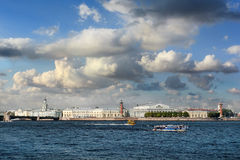 Spit of Vasilievsky island, Saint Petersburg, Russia Royalty Free Stock Photos