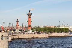 Spit of Vasilyevsky core. Royalty Free Stock Photography