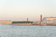 Spit of Vasilyevsky Island Royalty Free Stock Image